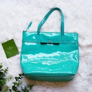 Kate spade camellia jeralyn bright beryl tote bag